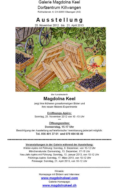 Magdolna Keel Grossformatige Bilder und Experimente