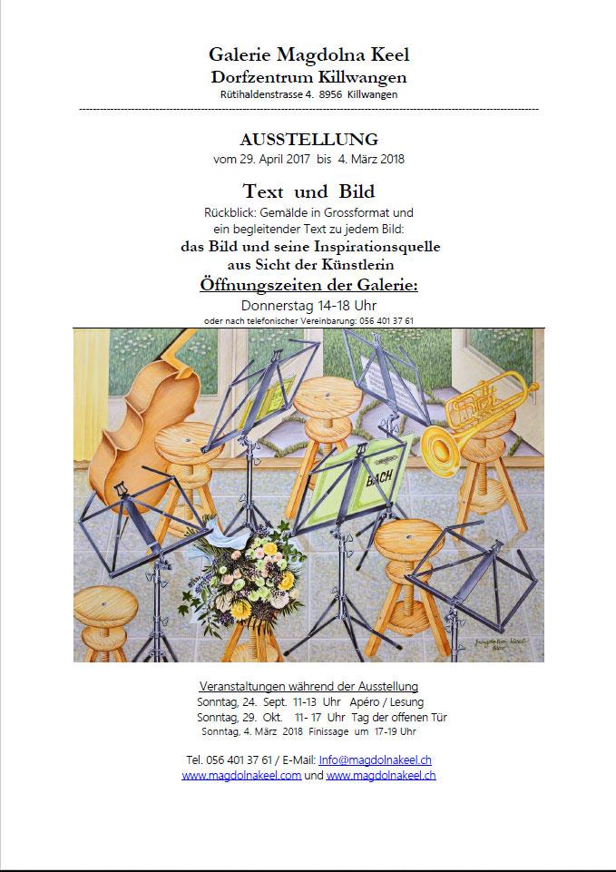 Magdolna Keel: Text und Bild - Hauskonzert