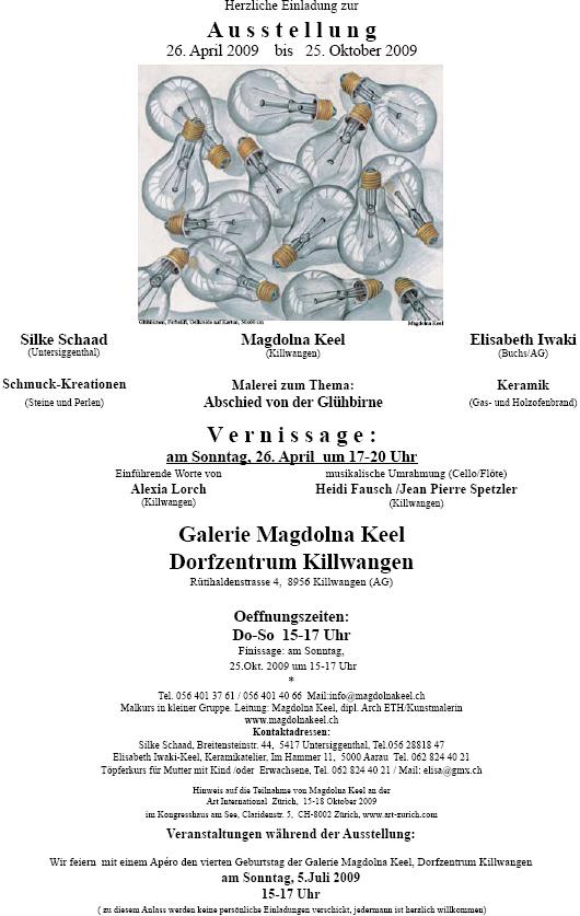 Magdolna Keel mit Silke Schaad und Elisabeth Iwaki