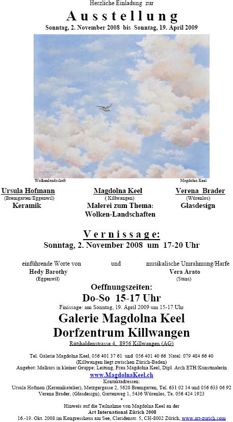 Magdolna Keel mit Ursula Hofmann und Verena Brader