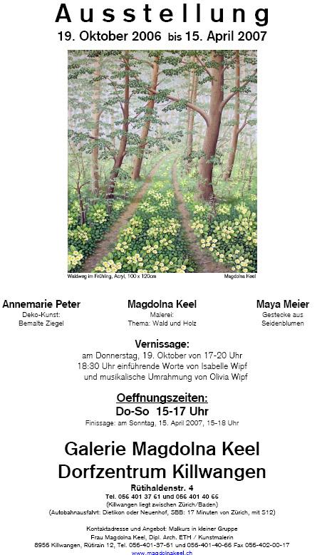 Magdolna Keel mit Annemarie Peter und Maya Meier