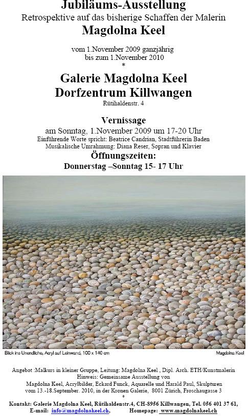 Magdolna Keel: Jubiläum Retrospektive